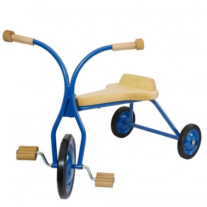 Triciclo com pedais Natural 3 anos