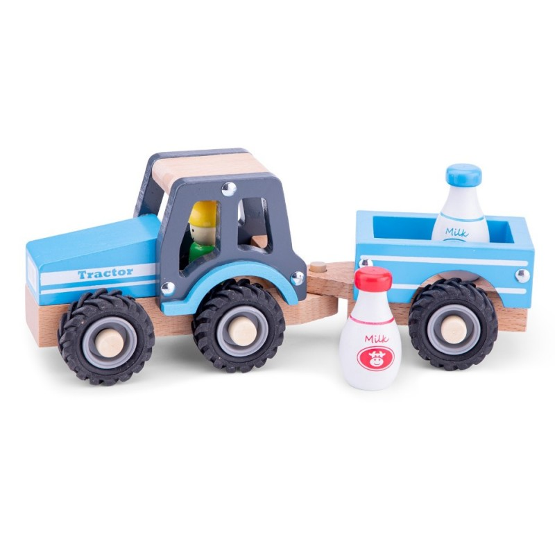 Tractor com Atrelado Azul