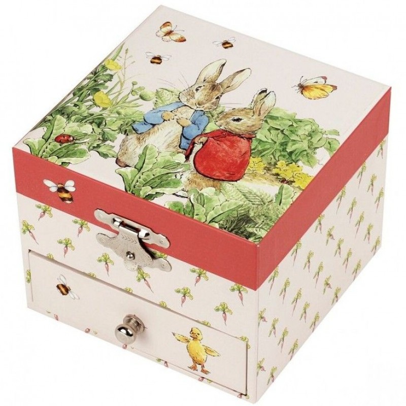 Caixa de Jóias Musical cubo Peter Rabbit Carrot