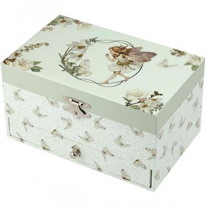 Caixa de Jóias Musical Fada Flores