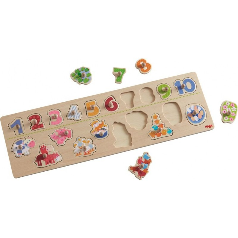 Puzzle de Pegas Animais por Números