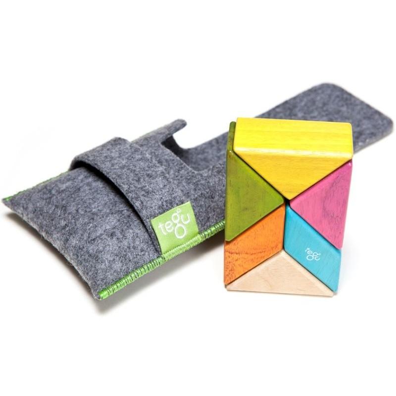 Tegu Tangram 6 peças magnéticas Tints