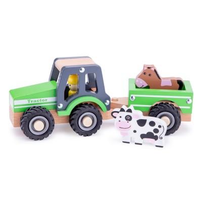 Tractor com Atrelado Verde