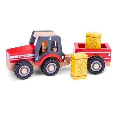 Tractor com Atrelado Vermelho