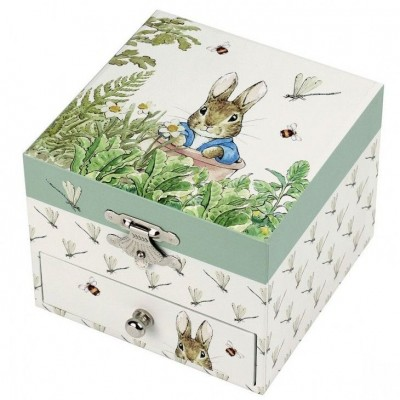 Caixa de Jóias Musical cubo Peter Rabbit