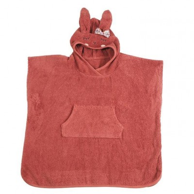 Poncho Bio Rabbit Girl Rust