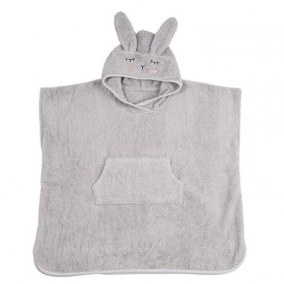 Poncho Bio Rabbit Silver Grey