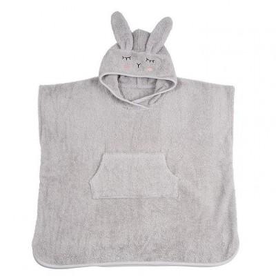 Poncho Bio Rabbit Silver Grey