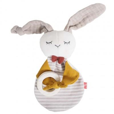 Doudou Bio Rabbit com Mordedor