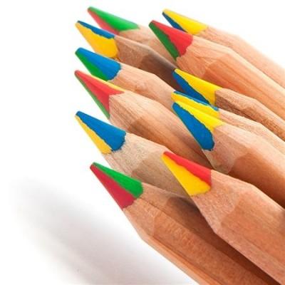 Lápis Gigante 4 cores em 1