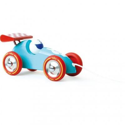 Carro Azul Claro de Puxar