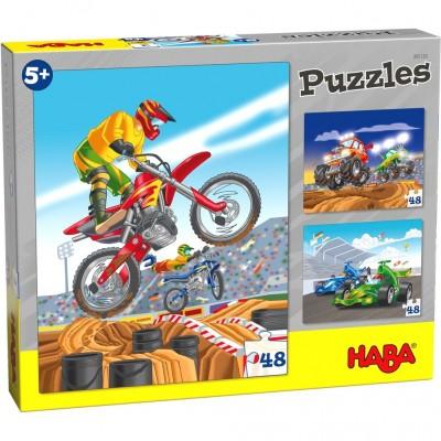 3 Puzzles Corridas (48 peças)