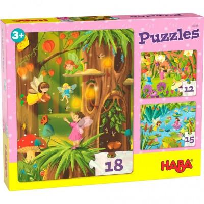 3 Puzzles País das Fadas (12, 15 e 18p.)
