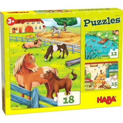 3 Puzzles A Quinta (12, 15 e 18p.)
