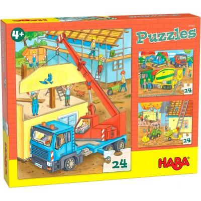 3 Puzzles Obras (24 peças)