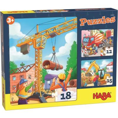 3 Puzzles Obras (12, 15 e 18p.)