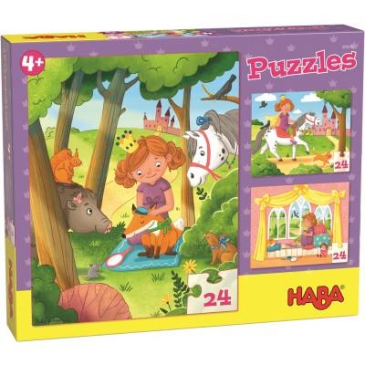 3 Puzzles Princesa (24 peças)