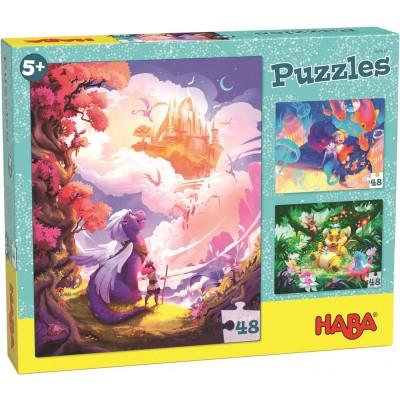 3 Puzzles Fantasyland (48 peças)