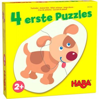 4 Puzzles Little Hand Animais