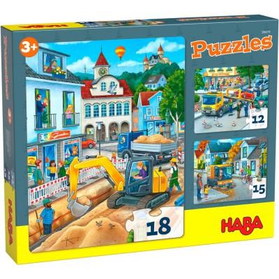 3 Puzzles Cidade (12, 15 e 18p.)