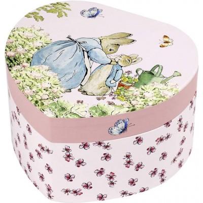 Caixa de Joias Musical Coração Peter Rabbit