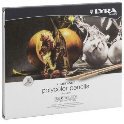 Lápis de Cor Finos Lyra 24 cores
