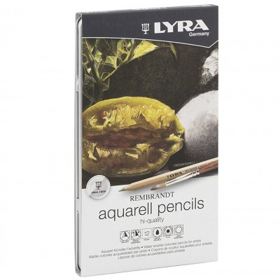 Lápis de Aguarela Finos Lyra 12 cores