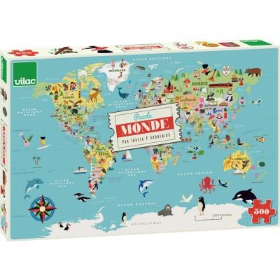 Puzzle Mapa Mundo - 500 peças