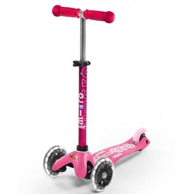 Trotinete Mini Micro Deluxe Pink LED 2-5 anos