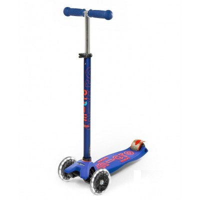 Trotinete Maxi Micro Deluxe LED Blue 5-12 anos