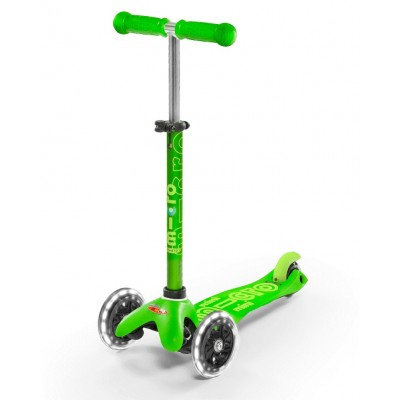 Trotinete Mini Micro Deluxe Green LED 2-5 anos