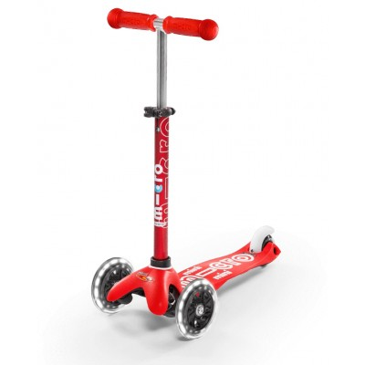 Trotinete Mini Micro Deluxe Red LED 2-5 anos