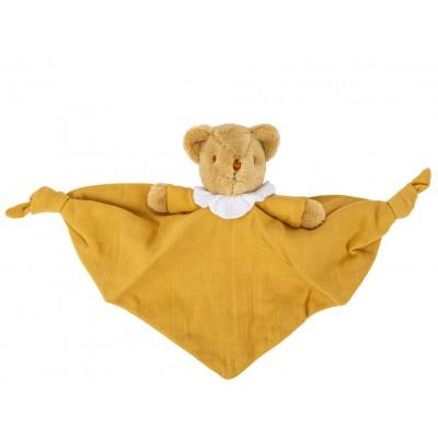 Doudou Urso Linen Mustard