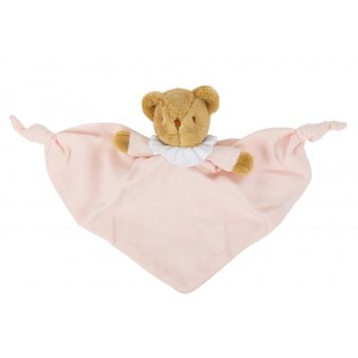 Doudou Urso Linen Pink