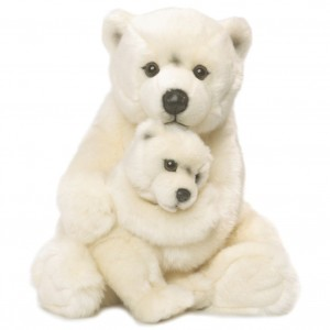 Urso Polar e bebé WWF Plush Collection