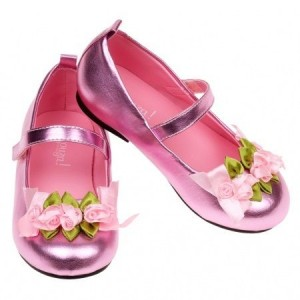 Sapatos Flores Rosa - 22 ou 23