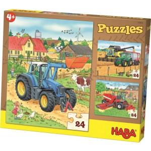 3 Puzzles Tractor e Co. (24 peças)