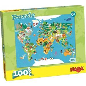 Puzzle XXL Mapa Mundo (100 peças)