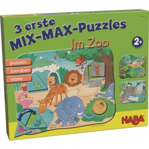 3 Puzzles Educativos Mix-Max - Zoo