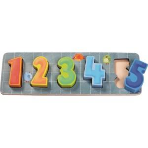 Puzzle Educativo Números 1-5