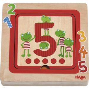 Puzzle de Camadas 3D - Números